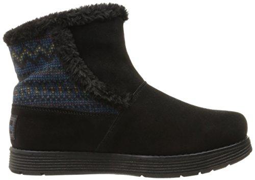 ... Skechers Kvinners Adorbs-genser Trimmet Snø Boot, Svart, 7 M Oss