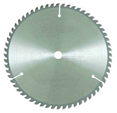Hitachi 998862 60-Teeth Tungsten Carbide Tipped 8-1/2-Inch ATB 5/8-Inch Arbor Finish Saw Blade