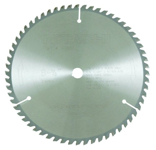 5/8 Teeth Arbor 60 (Hitachi 998862 60-Teeth Tungsten Carbide Tipped 8-1/2-Inch ATB 5/8-Inch Arbor Finish Saw Blade)