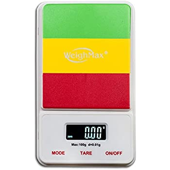 Weighmax RA100 Dream Series Digital Pocket Scale, 100 by 0.01 g, Rasta