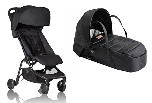 - Mountain Buggy Nano V2 Stroller with Bonus Cocoon Carrycot (Black)