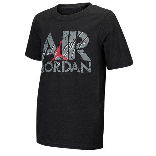 Jordan AJ Flight T-Shirt,Youth Large,Black