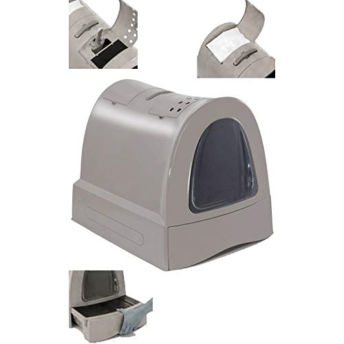 🥇 Imac Hygienic Tray Sandbox Cats – Sanitary Tray Catera Sandbox Covered Sandbox WC Cats Zuma 40 x 42.5 x 56 cm Gray
