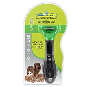 FURminator deShedding Tool for Dogs, Small, Long Hair