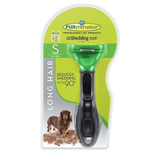 FURminator Long Hair deShedding Tool for Dogs, Small
