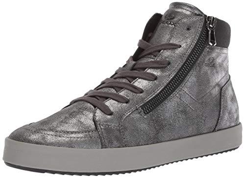- Geox Women's Blomiee 1 Fashion High top Sneaker, Anthracite, 38 Medium EU (8 US)
