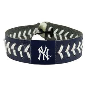 MLB New York Yankees Team Color Baseball Bracelet