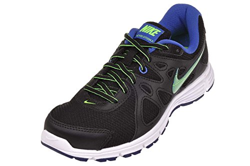 Nike Revolution 2, Zapatillas de Running para Hombre Black/Game Royal/White/Green Strike