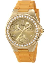 Invicta Womens 1650 Angel Crystal Accented Yellow Dial Watch