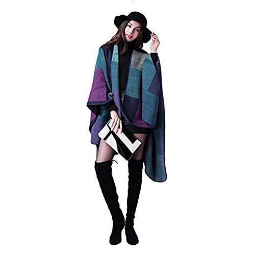Invernali Maglia Moda Autunno Stampa Fiore Violett Cardigan Plus Prodotto Capa Poncho Giacca Chic Ragazza Outerwear Casual A Eleganti Donna FXqE0v