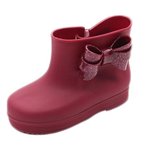Enfants Bow Bottes de pluie, chaussures de bébé, pour les enfants Bourgogne