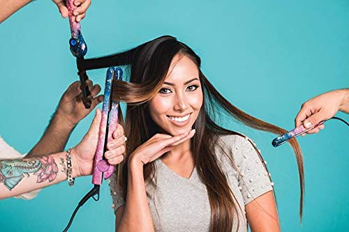 PYT Lola Styling Tools Set - Galaxy Design (Includes 1.25'' Ceramic Straightener, Mini Flat Iron & Curling Wand) by Pretty Young Thing (PYT) (Image #2)