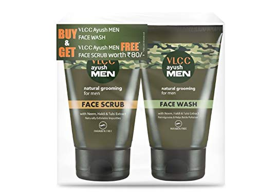 VLCC Ayushmen Cleansing and Scrubing Combo, 100 g with Free Ayushmen Scrub, 50 g