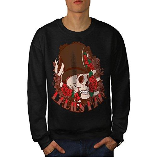 Ladies Man Skull Romantic Gent Men M Sweatshirt | Wellcoda (Birds Of War Costume)
