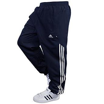 Mens ADIDAS Stringer Track Pants Navy White 3 Stripe Small