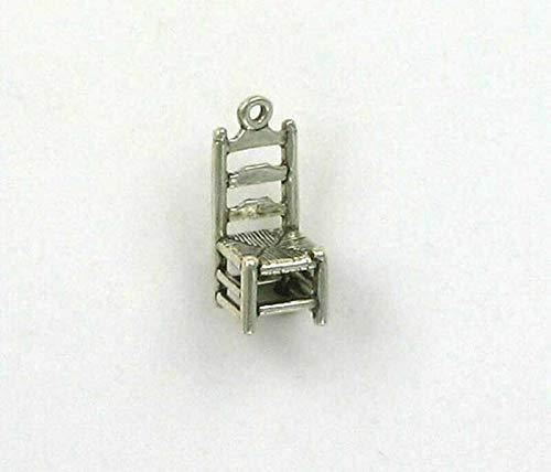 Pendant Jewelry Making/Chain Pendant/Bracelet Pendant Sterling Silver 3-D Ladder Back Chair Charm