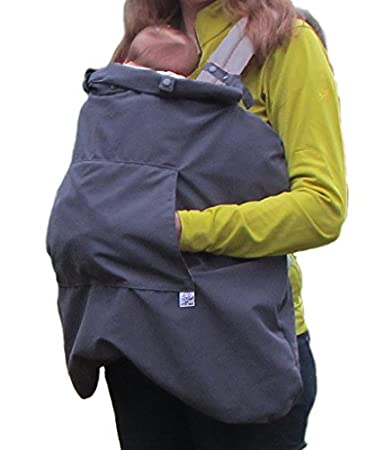 Little Goat 3-Season Baby Carrier Cover for Rain and Cold Weather (Pewter/Pink) Little Goat Carrier Covers