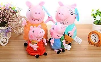 SKKY BELL Plush Peppa Pig Family Box Combo (Multicolour)