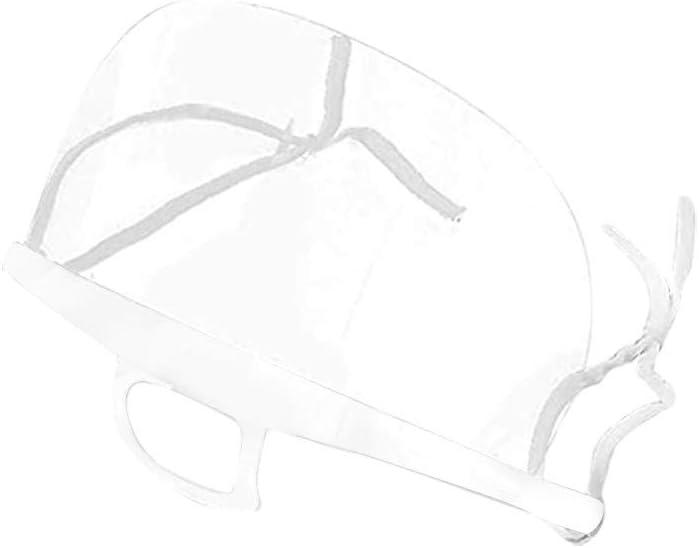 10 St/ück Safety Gesichtsschutzschild Kunststoff Visier Gesichtsschutz Anti-Fog Anti-/Öl Splash Transparent Schutzvisier Essen Hygiene Spezielle Gesichtsschutzschirm Hinclud Visier 10 St/ück