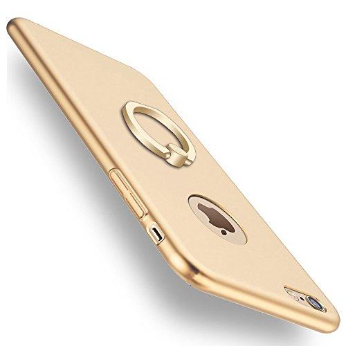 Xeber iPhone 6 Plus 6s Plus Case,Ultra Light Slim Fit Anti Scratch Fingerprint Premium Matt Surface with Ring Brackets Excellent Grip for iPhone 6 Plus 6s Plus Case (iPhone 6 Plus 6s Plus, Gold)