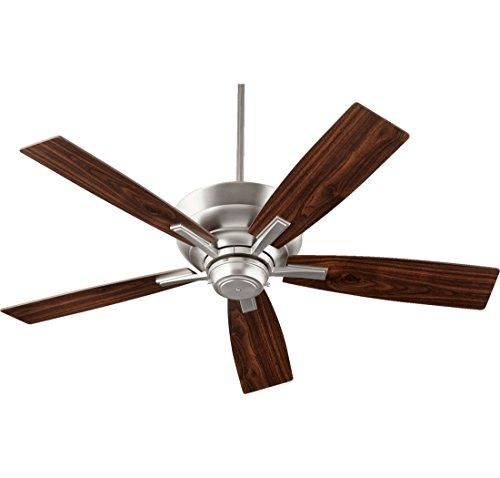 Quorum 94525 65 Mercer 52  4 Light Indoor Ceiling Fan In Satin Nickel