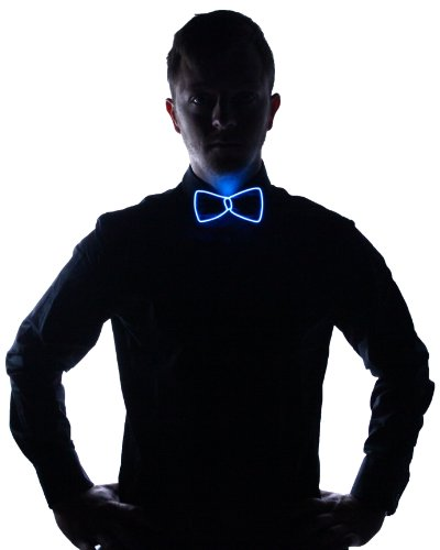 Electric Styles Light Up Bow Tie (Blue)