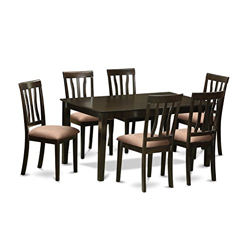 East West Furniture CAAN7-CAP-C 7 Piece Table and 6 Dining Room Chairs Set