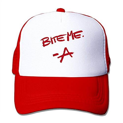 CYSKA Unisex-Adult Two-toned Hats Pretty Little Liars BITE ME Basketball Caps Red