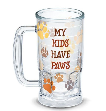 Have Paws Mugs - Tervis 1308120 My My Kids Have Paws Insulated Tumbler with Wrap, 16oz Beer Mug, Clear