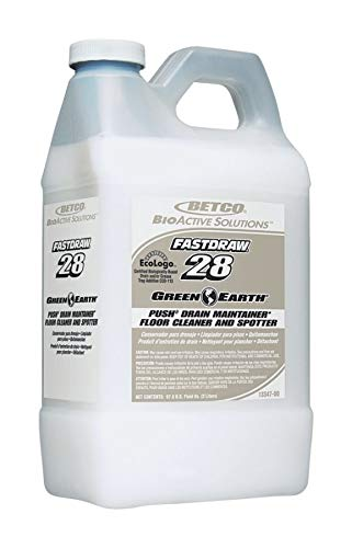 Betco Green Earth Push Drain Maintainer, Floor Cleaner and Carpet Spotter, 2 Liter, Case of 4