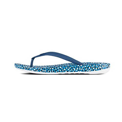 Iqushion Blue TM Tongs Femme Bleu Ergonomic 468 FitFlop Bright Flipflop Bubbles dfTqwxaA8