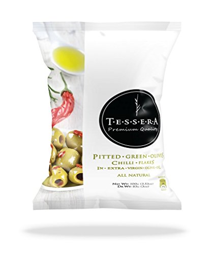 TESSERA Pitted Green Olives in Bags, 10 Count by TESSERA