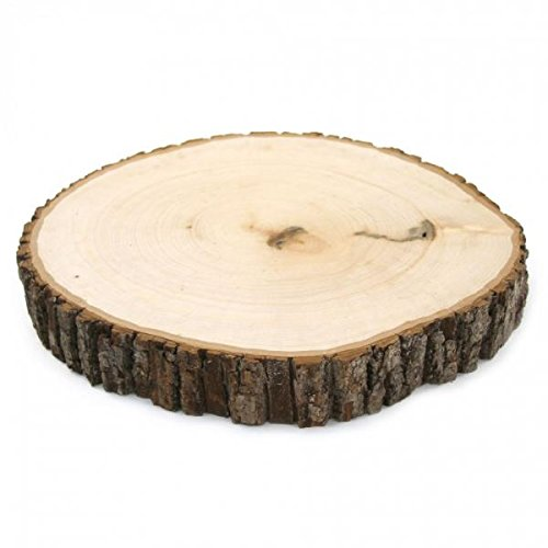 "Koyal Wholesale 12"" Large Natural Wood Reversible Wood Ca..."
