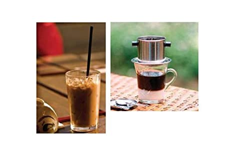 Highlands Coffee Highlands Coffee cafe vietnamita conjunto de goteo [Etsuminami base delicioso cafe (Kurirobusuta + juego de filtros): Amazon.es: ...