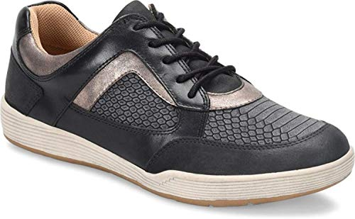 Comfortiva Womens Lemont Leather Low Top Lace Up Running, Black Combo, Size 7.0