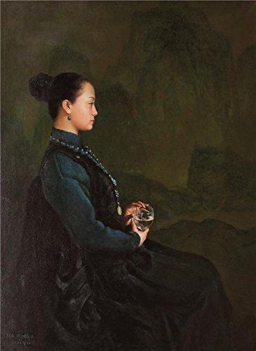 Perfect Effect Canvas ,the Best Price Art Decorative Canvas Prints Of Oil Painting 'Portrait Of A Seated Woman Holding A Glass', 18x25 Inch / 46x63 Cm Is Best For Bedroom Decor And Home Decoration And Gifts