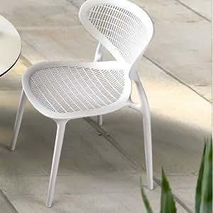 Sascha [juego de 4] sillas asiento de color: blanco