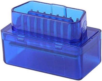 ghfcffdghrdshdfh Herramienta de diagn/óstico de ABS Interfaz Mini port/átil de ELM327 V2.1 OBD2 II Bluetooth de diagn/óstico del Coche del Explorador Auto Superior Azul
