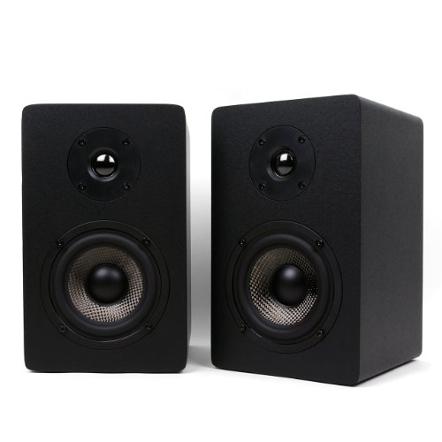 Black, Each Micca MB42-C Center Channel Speaker With Dual 4-Inch Carbon Fiber Woofer and Silk Dome Tweeter