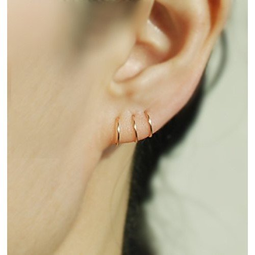 14k ROSE GOLD FILLED Cartilage hoop earring, 22Gauge,Tiny Cartilage Ring,Helix,Tragus,Ear Lobe,Nose Ring,Septum Ring,piercing earring / price per one pieces