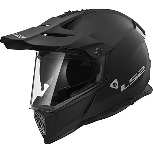 LS2 Helmets Unisex-Adult Off-Road-Helmet-Style Adventure (V2 Matte Black, Medium)