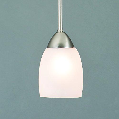 (Yosemite Home Decor 1261-1P-BN  1 Light Mini Pendant, Brush Nickel)