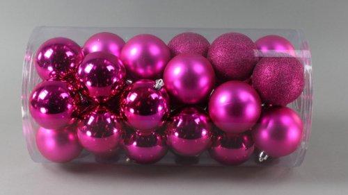 Weihnachtskugeln pink kunststoff my blog for Pinke weihnachtskugeln