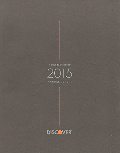 2015 Discover Financial Services Nyse Stock Exchange Annual Report Rare Neat  Near Mint