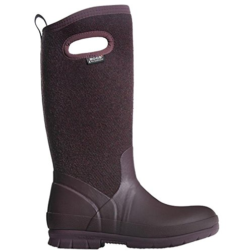 Crandall Wool Wms Plum 7 by Bogs