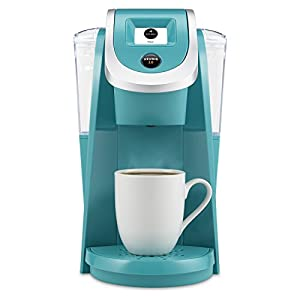 Keurig K250 2,  — new, improved, and turquoise.