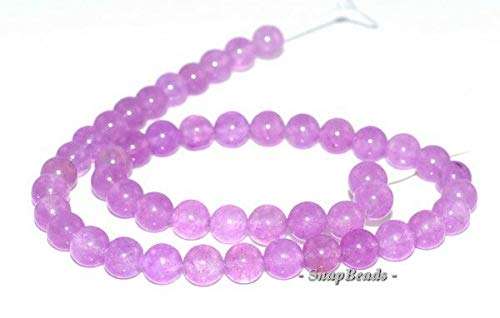 "8MM Purple Mist Jade Gemstone Purple Round 8MM Loose Beads 15"", Beading, Jewelry Making, DIY Crafting, Arts & Sewing by Perfect Beads Store"