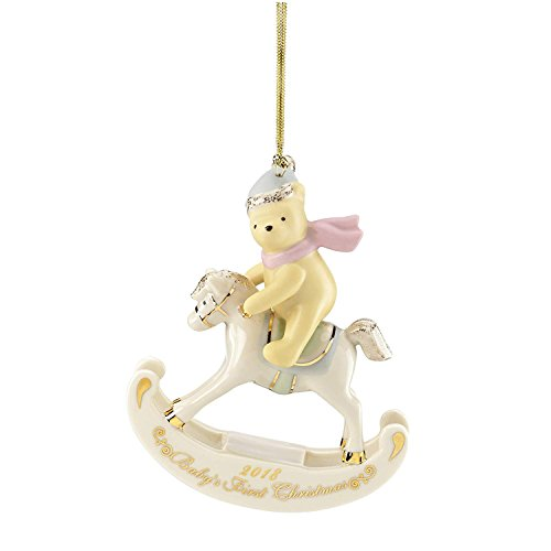 2018 Lenox Winnie The Pooh Babys First Christmas Rocking Horse Ornament 877375