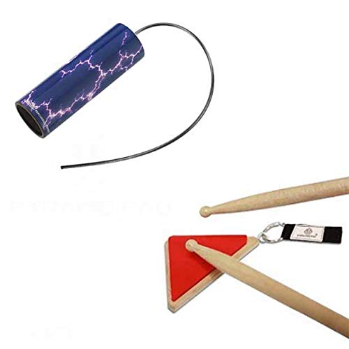 Pyramid Drum Pad Red w/Remo Thunder Tube Lightning