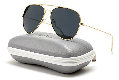 WearMe Pro - Premium Classic Fashion Design Polarized Lens Aviator - Sunglasses Aviator Gold